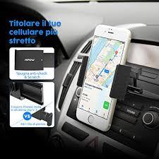 porta iphone auto mpow supporto auto smartphone cd slot car mount supporto