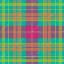vector seamless scottish tartan pattern in acid colors turquoise