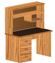 pedestal computer desk plans woodworking