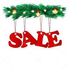 word sale decorated with christmas tree branches seasonal chris