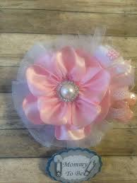 corsage de baby shower pink white to be corsage badge to be baby