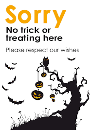 printable no halloween signs u2013 festival collections