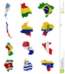 South America Map Countries South America Countries Flag Maps Stock Images Image 28795004