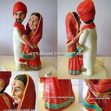 indian wedding cake toppers indian personalised cake toppers embracing customised cake topper