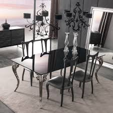 Black Glass Dining Table And 4 Chairs Large Black Glass Dining Table Set Juliettes Interiors