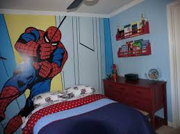 spiderman wall kids bedroom paint ideas ashton pinterest