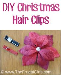 How To Make Flower Hair Clips - how to make cute christmas hair clips the frugal girls