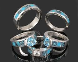 Turquoise Wedding Rings by Turquoise Engagement Rings Hileman Silver Jewelry