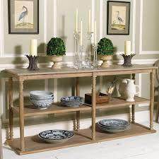 Wooden Console Table Wood Console Table With Shelves Parkstead Oka