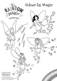 rainbow magic fairies coloring pages funycoloring