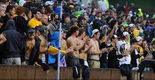 black and gold football fans brave rainy weather for 2013 asu fan