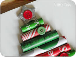 wrapping paper christmas tree craft
