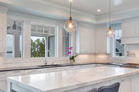 marble kitchen island white transitional kitchen mantoloking jersey by design line