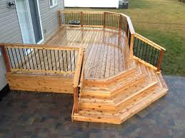 Unusual Decking Ideas by 13x20 Cedar Deck With Corner Wrap Around Steps Think This Would