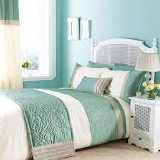 catherine lansfield lois bed runner in duck egg blue throws