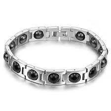 magnetic bracelet stainless images Cool magnetic bracelet beads hematite stone therapy health care jpg