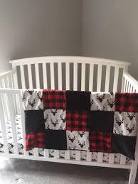 Plaid Crib Bedding Customized Personalized Crib Bedding Nursery Set
