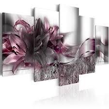 Wohnzimmer Design Wandbilder Wandbilder Xxl Blumen Abstrakt Leinwand Bilder 200x100 Wohnzimmer