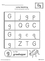 sort the uppercase and lowercase letter g worksheet