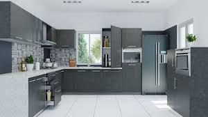 kitchen grey modern kitchen cabinet white ceramic tile floor modern