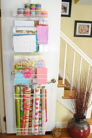 ways to store wrapping paper organizing with style genius wrapping paper organizer ideas blue