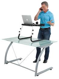 amazon com fitdesk table top standing desk with massage bar
