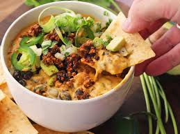 the ultimate vegan party food fully loaded queso dip serious eats