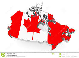 canada map with flag royalty free stock images image 28409329