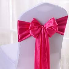 cloth ribbon multicolor satin silk cloth chair seat back cover bow sash bands