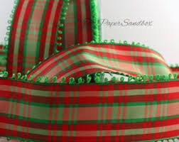 plaid ribbon plaid ribbon etsy