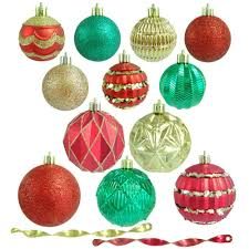 christmas ornament sets christmas ornaments christmas tree decorations the home depot