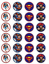 superman cake toppers 24 superman cupcake toppers co uk kitchen home