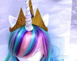 Pony Halloween Costume Girls Unicorn Costume Child Kid Purple Wig Unicorn Horn