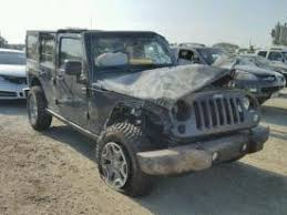 wrecked jeep wrangler for sale salvage jeep wrangler unlimited cars for sale and auction