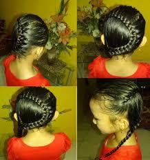tutorial mengikat rambut kepang cara mengikat rambut model kepang bulan sabit youtube
