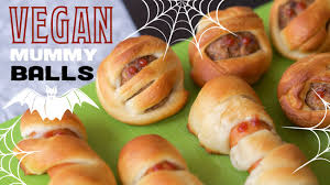 easy halloween appetizers recipes easy vegan halloween recipe mummy meatballs youtube