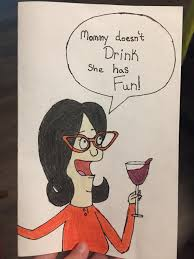 homemade mother u0027s day card for my mom bobsburgers