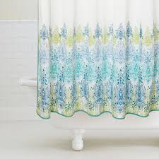 Blue And Green Shower Curtains Light Green Shower Curtain Experience Home Decor Inspiring