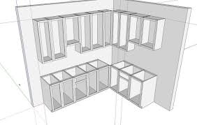 Kitchens In SketchUp FineWoodworking - Draw kitchen cabinets