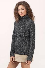 cowl sweater black white sweater cowl neck sweater black white top tobi