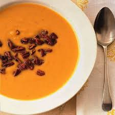 butternut squash soup with sweet and spicy pecans rachael ray
