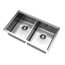 Clark Mm Pete Evans Double Bowl Undermount Sink TH Bunnings - Bunnings kitchen sinks