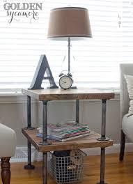 Restoration Hardware Side Table Restoration Hardware Furniture Side Tables Wood Top W Pipe