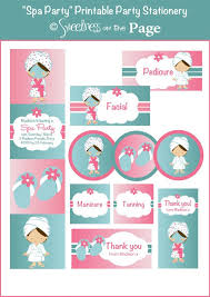 134 best pajama party printable images on pinterest spa party