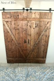 How To Build A Simple Shed Door by Diy Barn Doors Nest Of Bliss