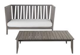 contemporary sofa garden teak 2 seater york unopiu