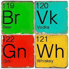 Cool Coasters Colorful Chemistry Coasters Periodic Table Coasters