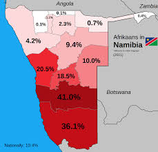 Namibia Map Afrikaans In Namibia 1244 X 1200 Historical Ethno Linguistic