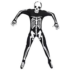 2017 halloween party cosplay skeleton costumes for men black fancy