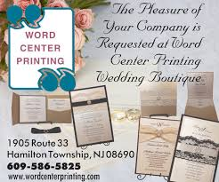 wedding invitations nj service printing company wedding invitations envelopes in